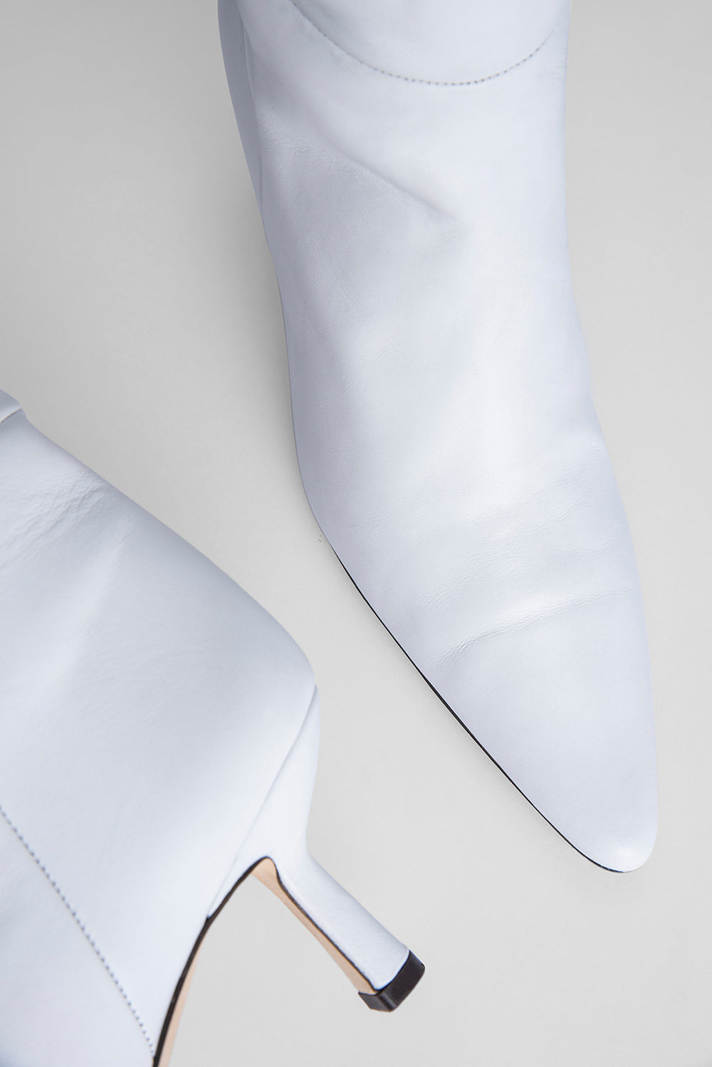 Gwen White Nappa Leather