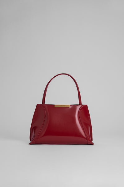 Charlotte Red Semi Patent Leather