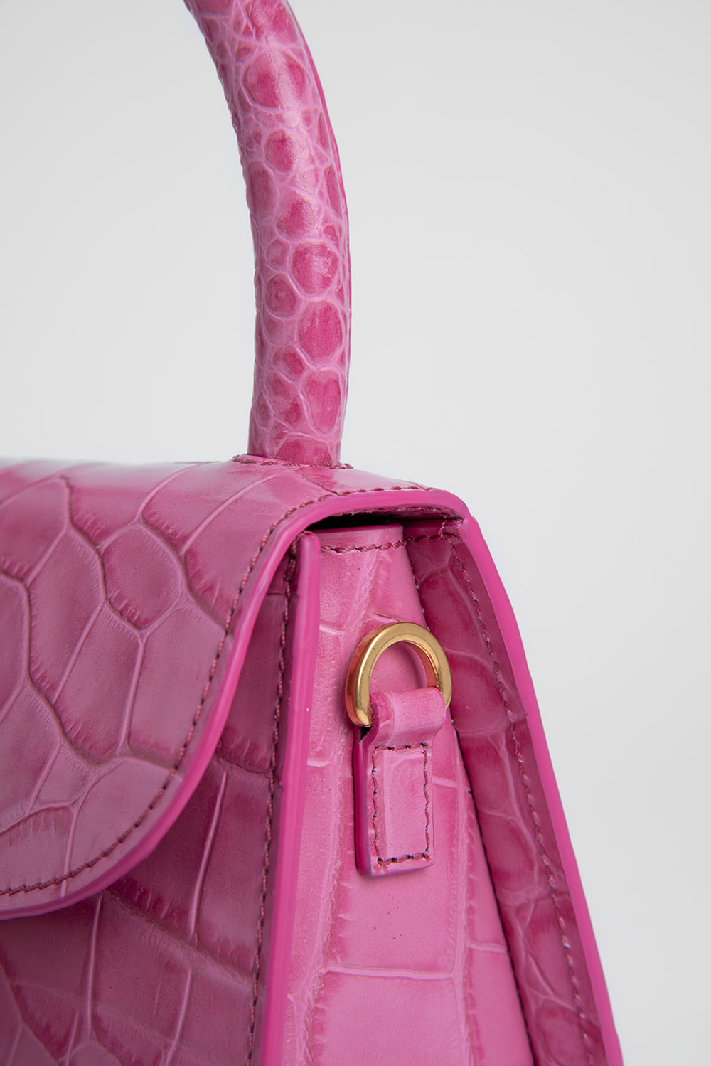 Mini Venus Croco Embossed Leather