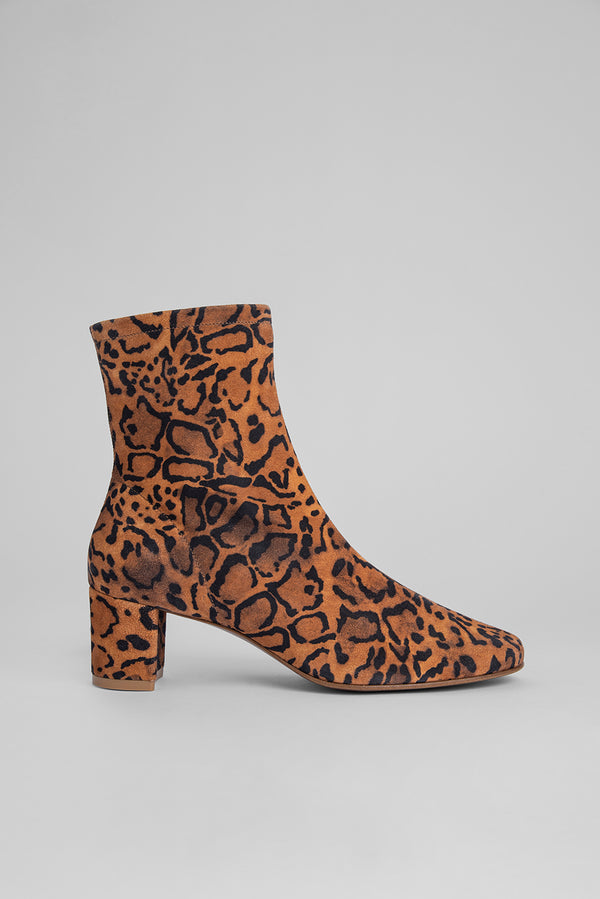 Sofia Leopard Print Suede Leather