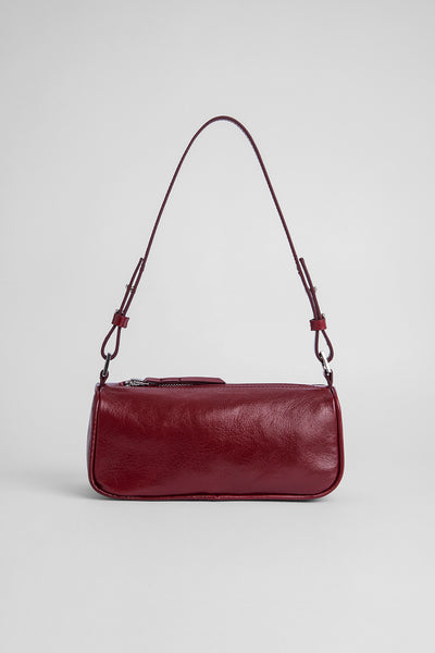 Eve Bordeaux Creased Leather