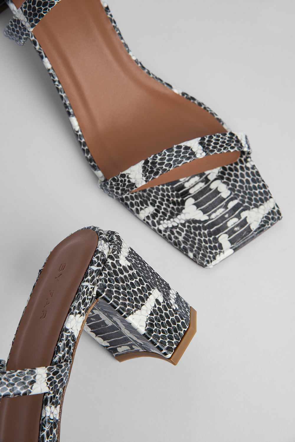 Tanya Graphic Snake Print Leather