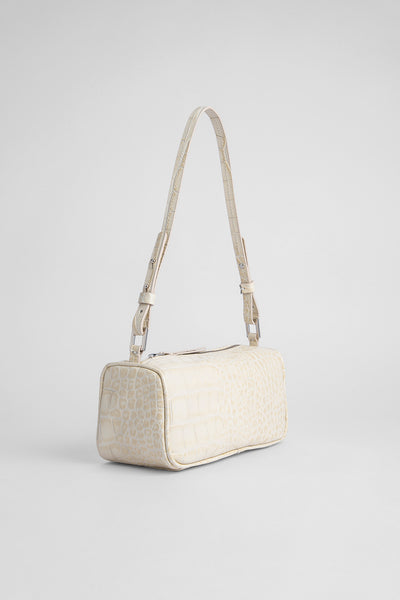 Eve Cream Croco Embossed Leather