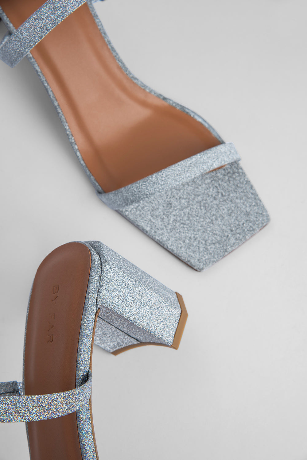Tanya Silver Glitter Leather