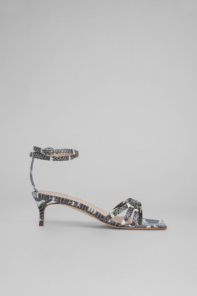 Kaia Graphic Snake Print Leather