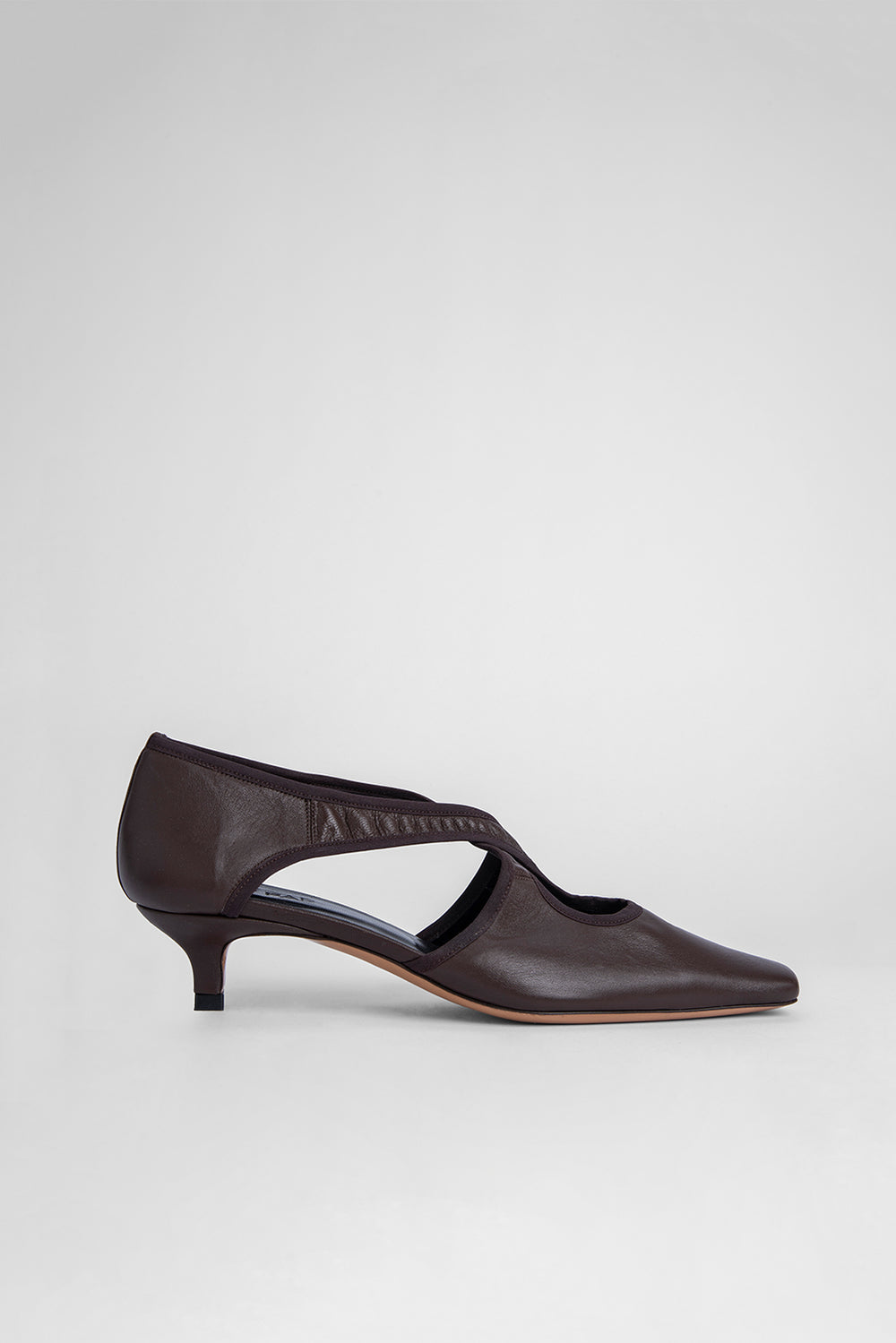 Adele Brown Stretch Leather