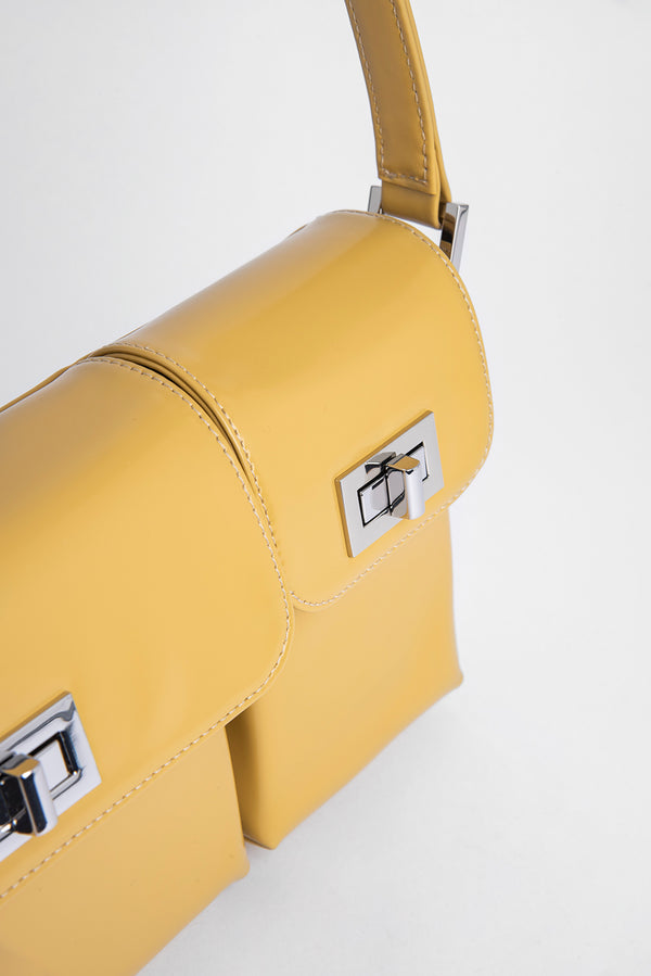 Billy Yellow Semi Patent Leather