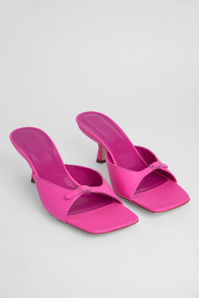 Erin Hot Pink Grained Leather