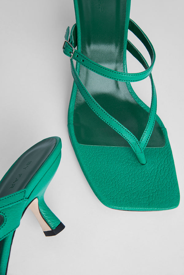 Desiree Emerald Grained Leather