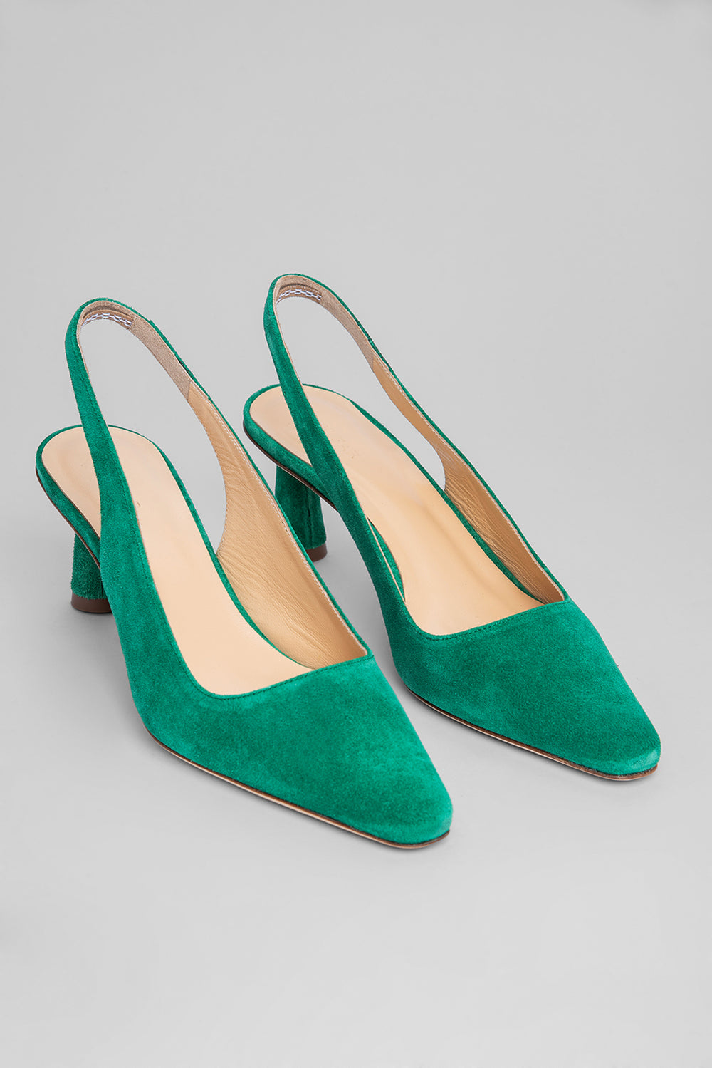 Diana Green Suede Leather