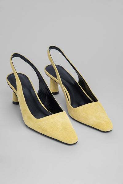 Diana LEMON Suede Leather