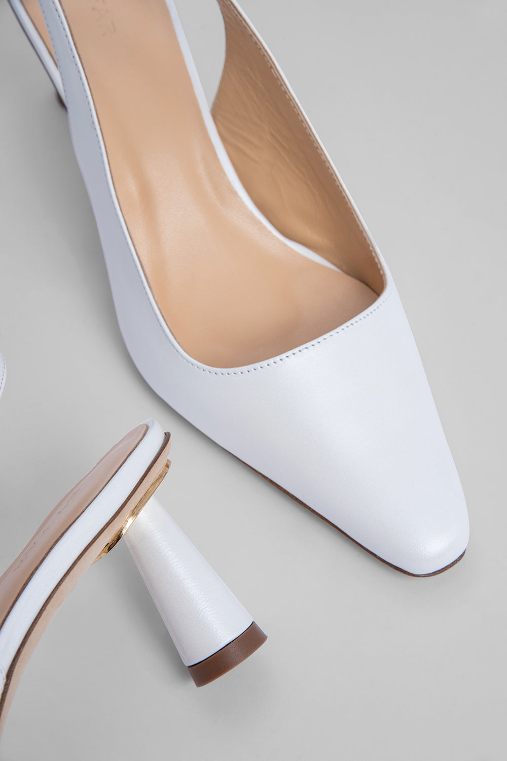 Diana White Pearl Shine Leather