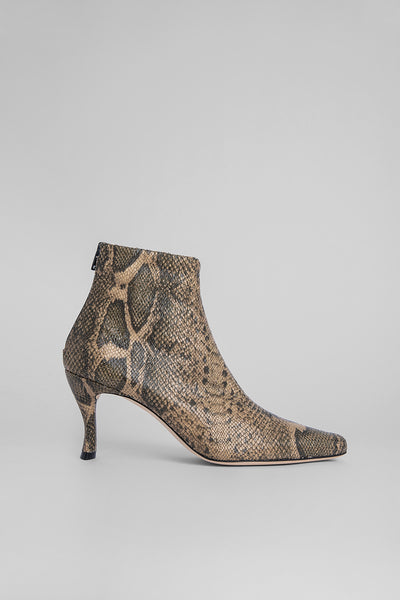 Stevie 22 Snake-Print Stretch Leather