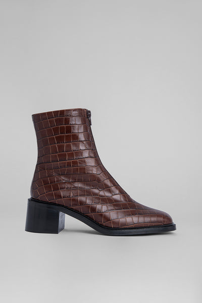 Bruna Nutella Croco Embossed Leather