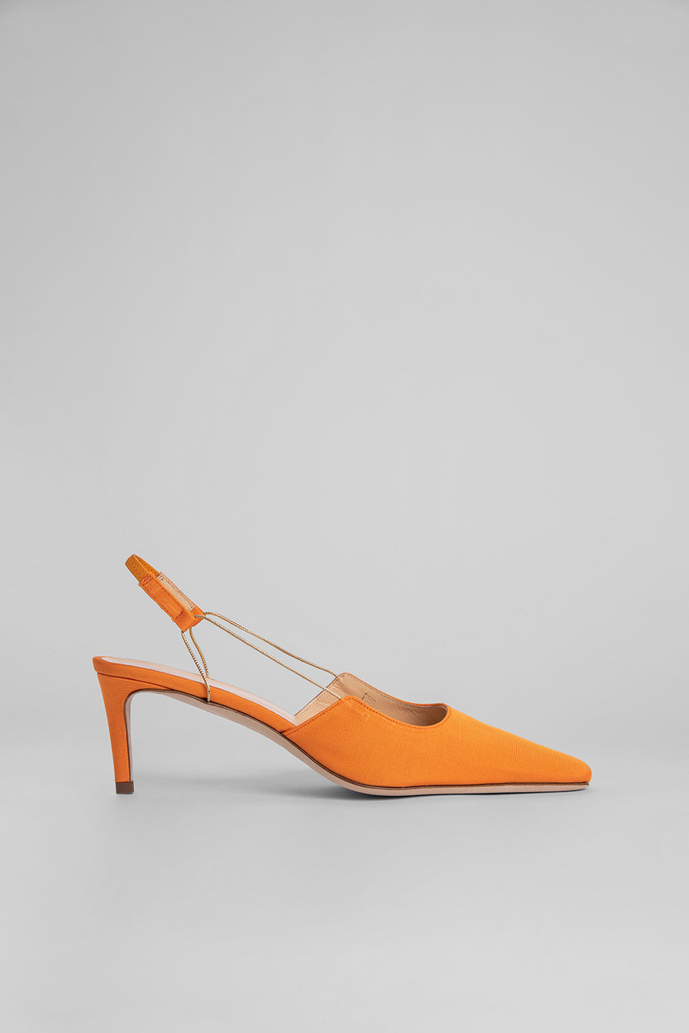 Gabriella Orange Grosgrain