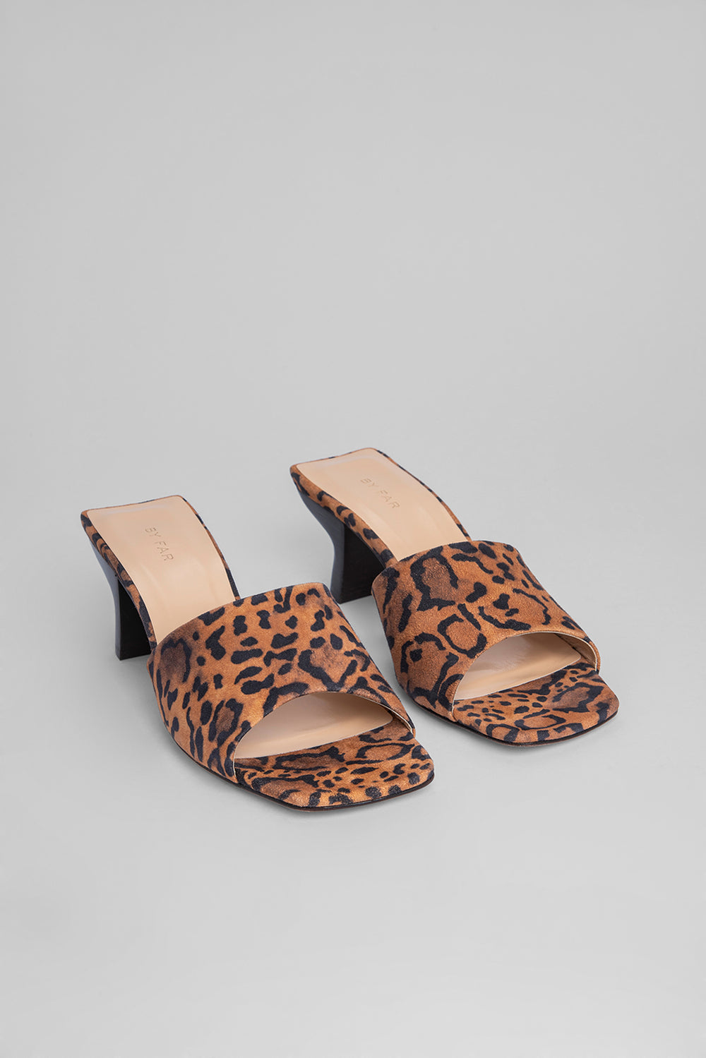 Lily Leopard Print Suede Leather