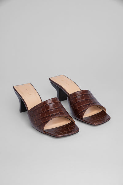 Lily Nutella Croco Embossed Leather