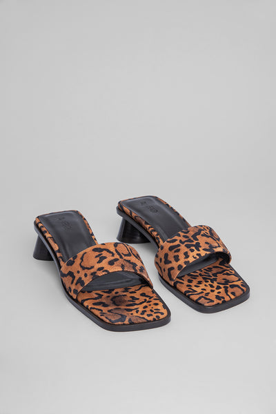 Sonia Leopard Print Suede Leather