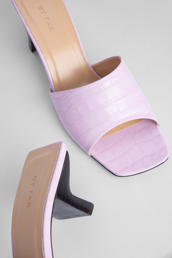 Lily Pink Croco Embossed Leather