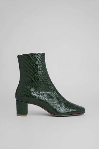 Sofia Emerald Snake Print Leather