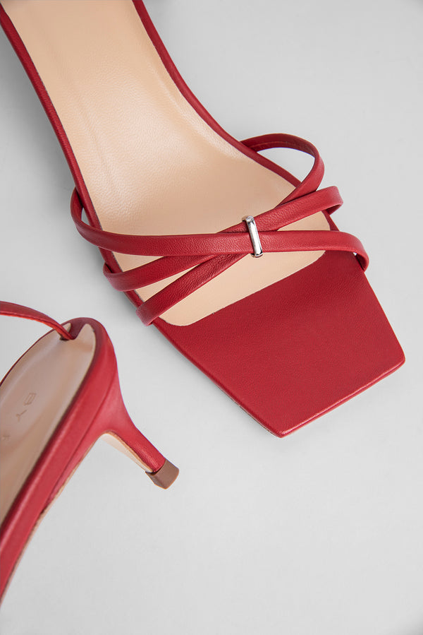 Kaia Red Leather