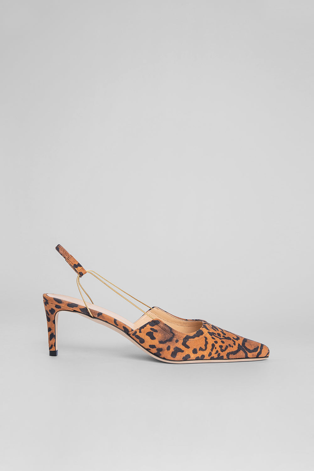 Gabriella Leopard Print Suede Leather