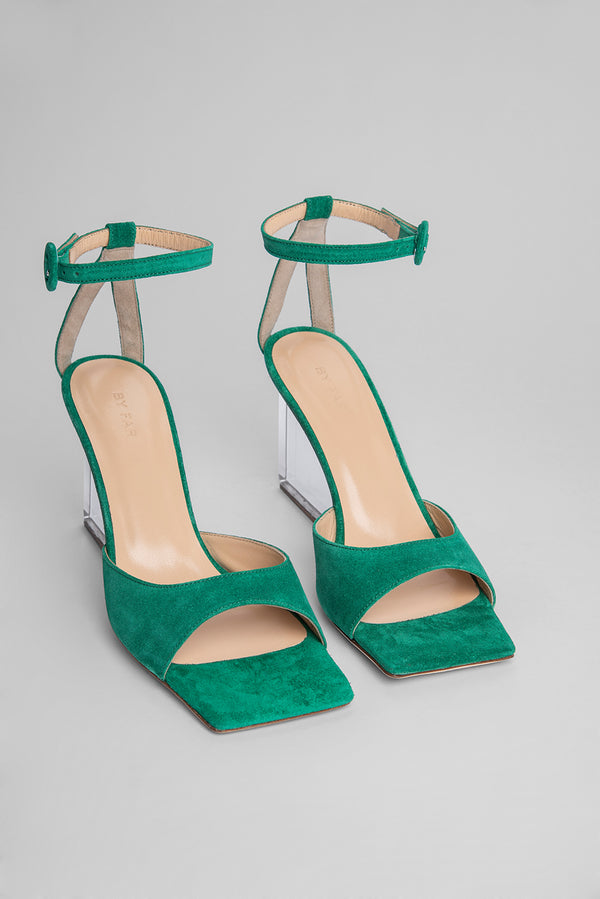 Dima Green Suede Leather