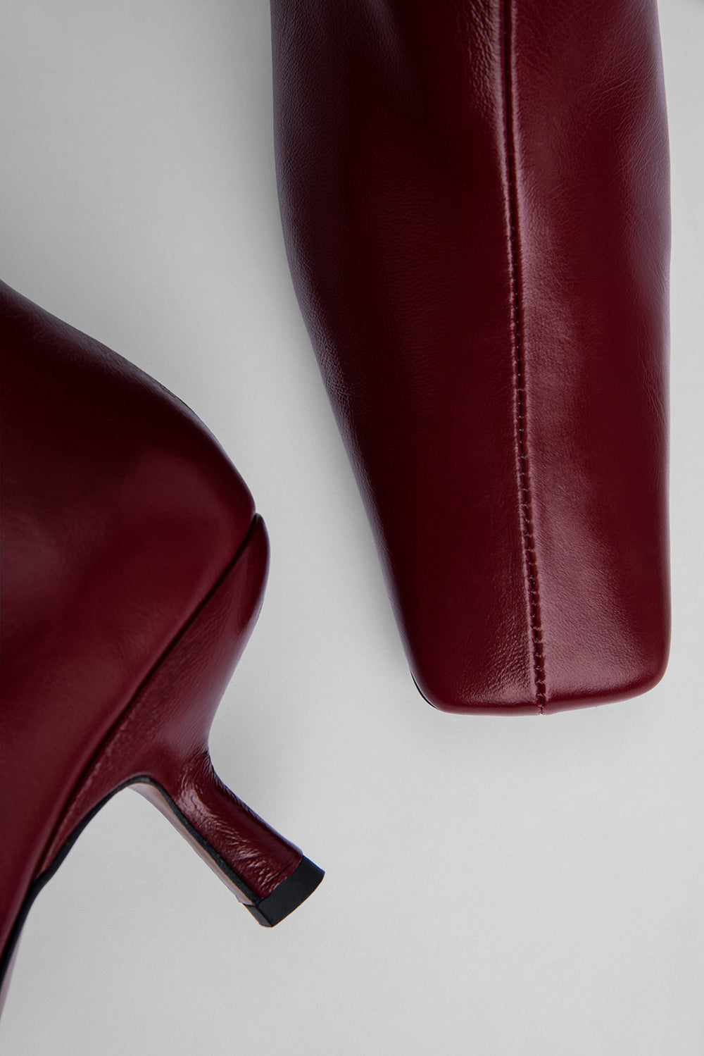Lange Bordeaux Creased Leather