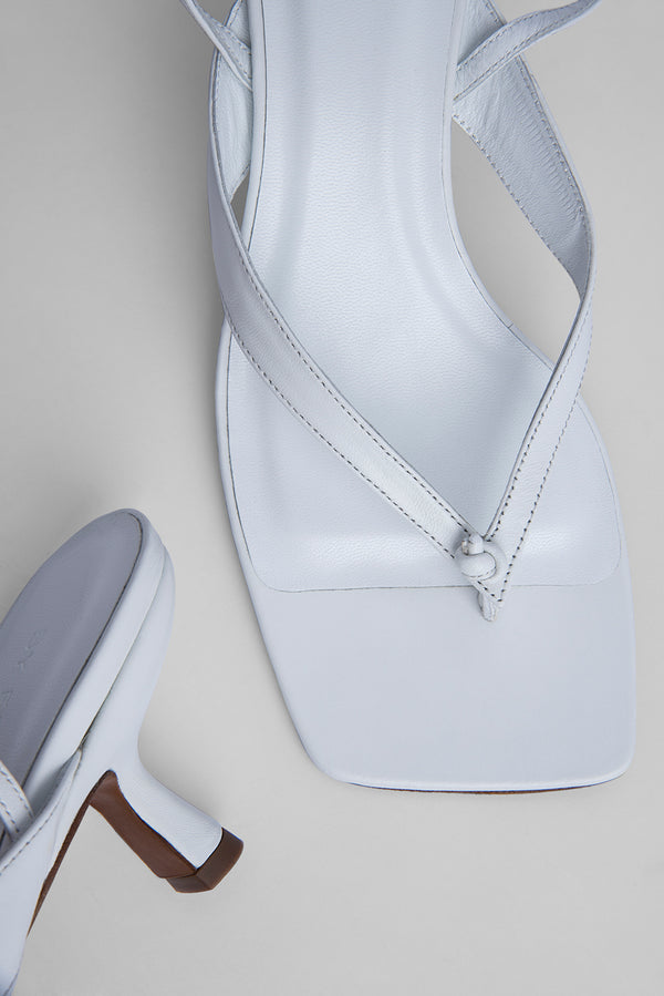 Mindy White Nappa Leather