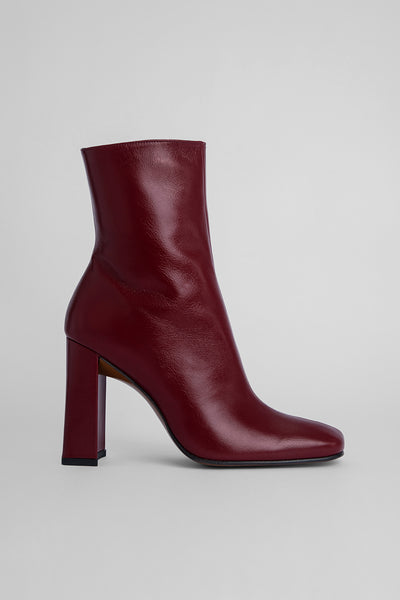 Elliot Bordeaux Creased Leather