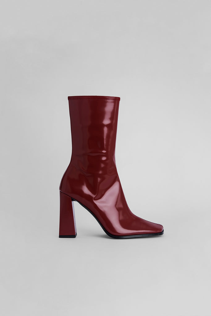 Linda Bordeaux Semi Patent Leather