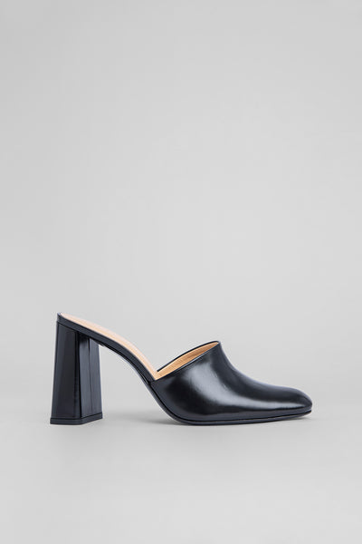 Nina Black Semi Patent Leather