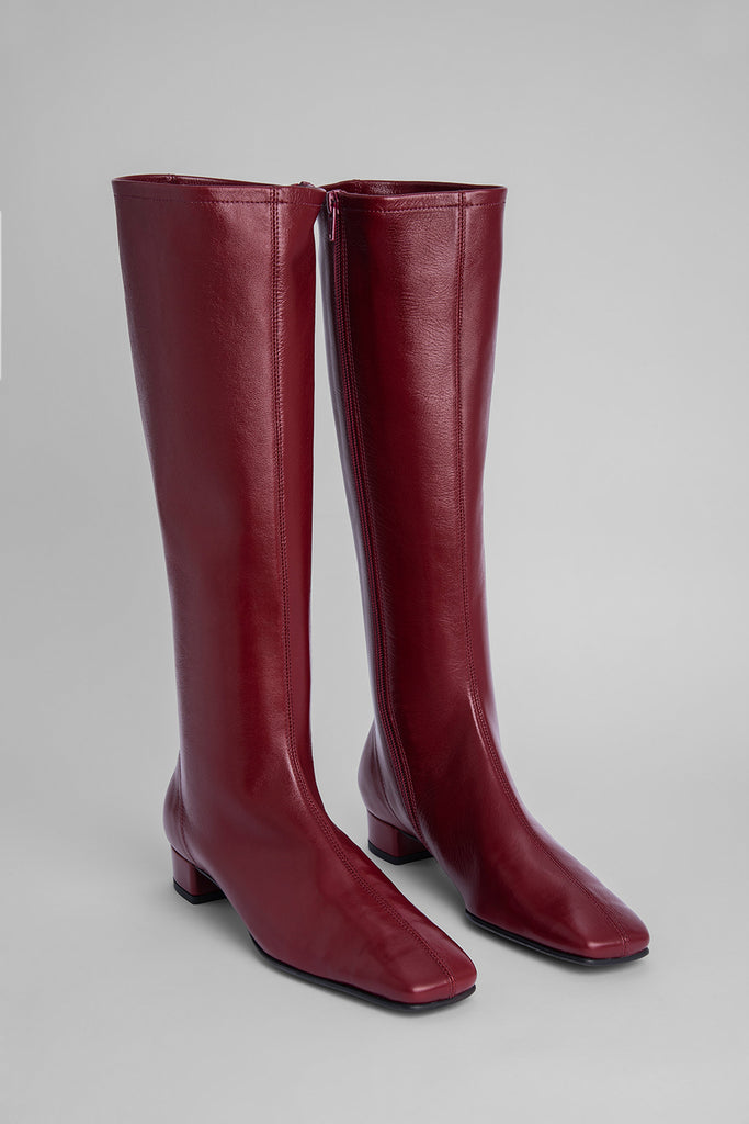 Edie Bordeaux Creased Leather
