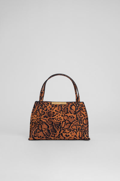 Charlotte Leopard Print Suede Leather