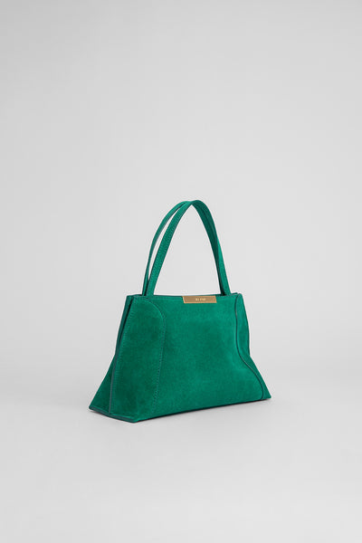 Charlotte Green Suede Leather
