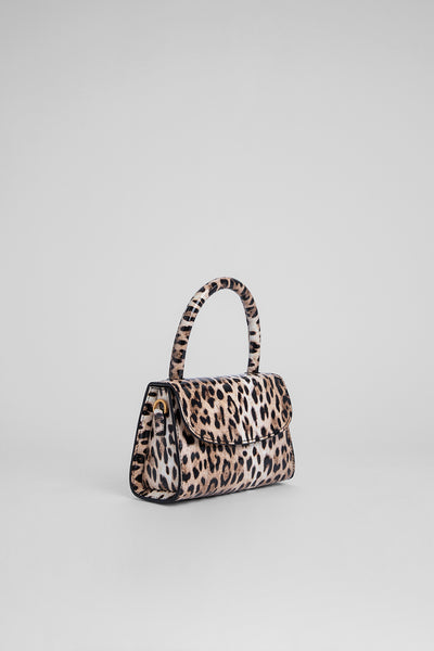 Mini Leopard Print Patent Leather