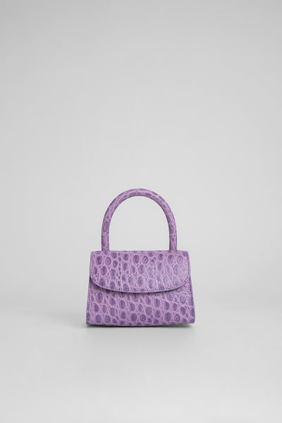 Mini Lilac Croco Embossed Leather