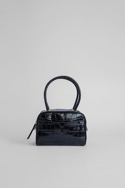 Martin Black Croco Embossed Leather