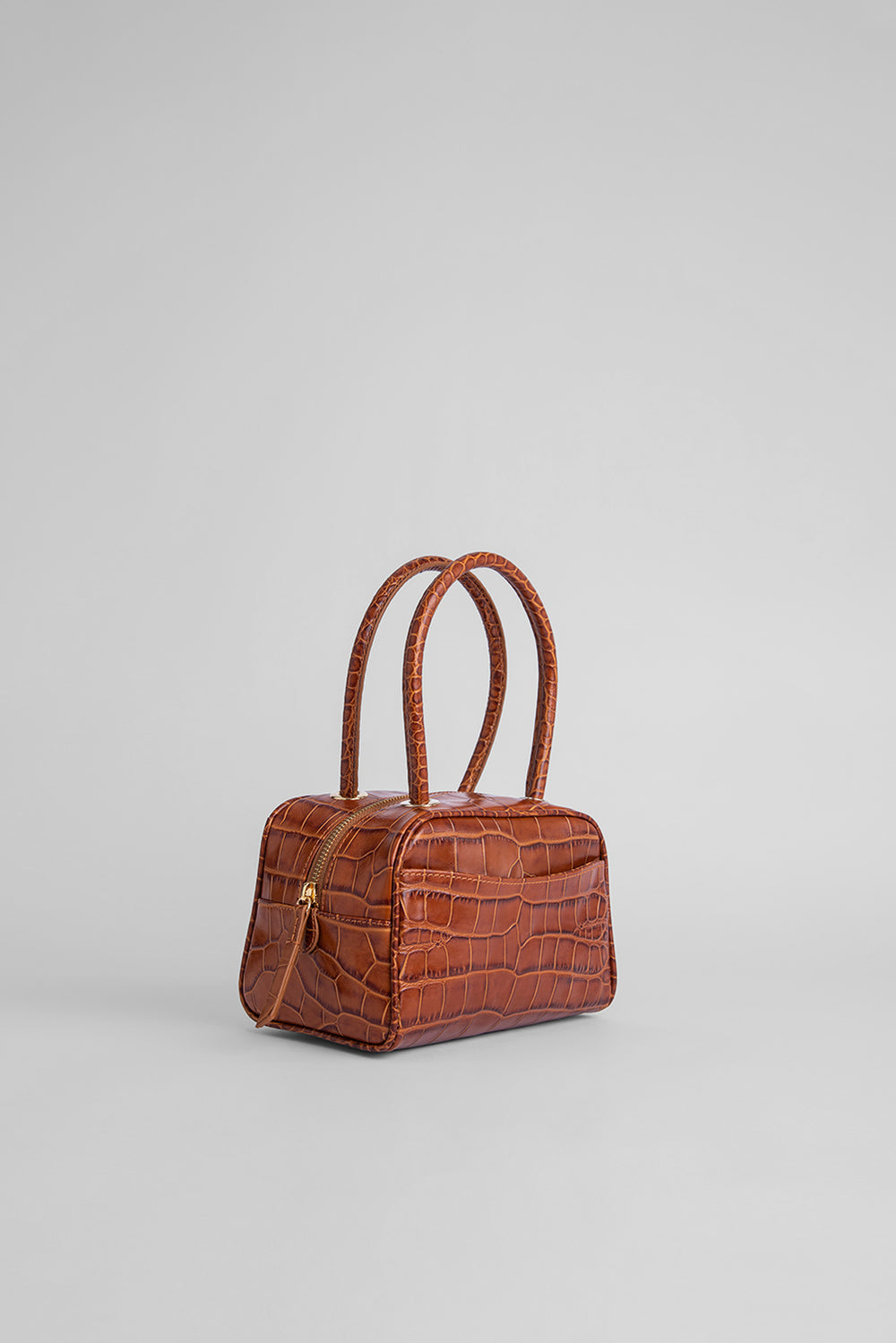 Martin Tan Croco Embossed Leather