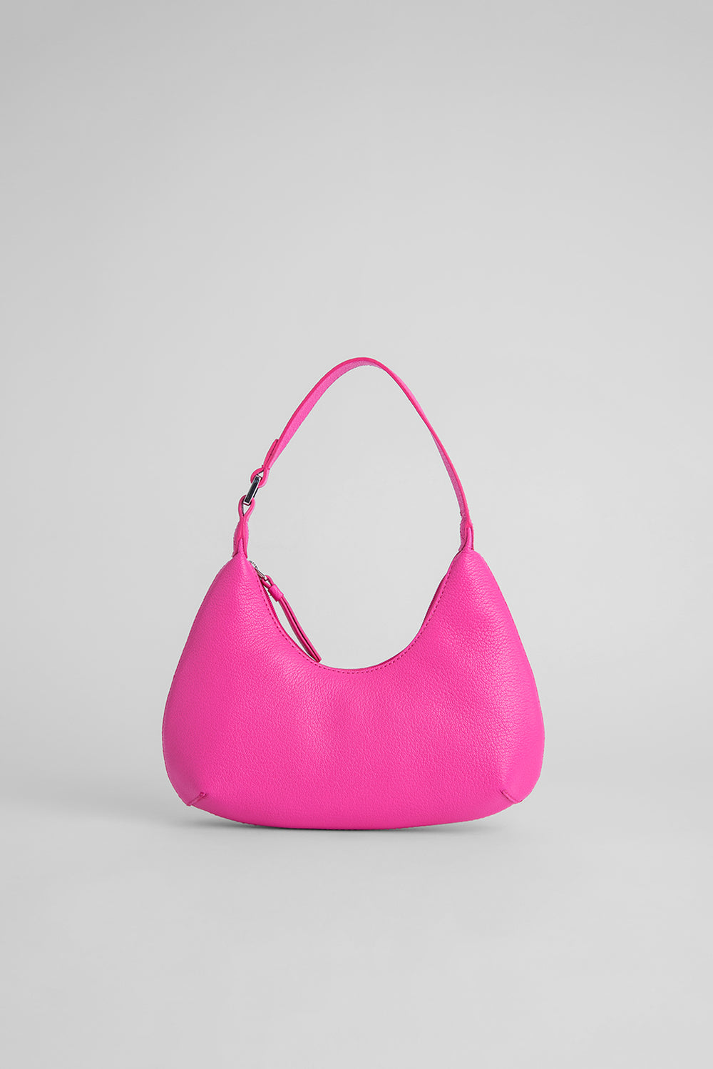 Baby Amber Hot Pink Grained Leather