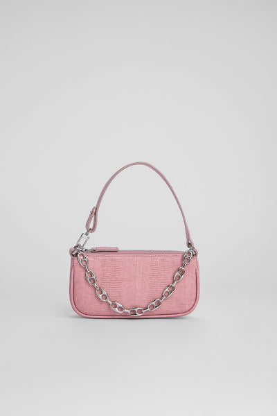 Mini Rachel Pink Lizard Embossed Leather