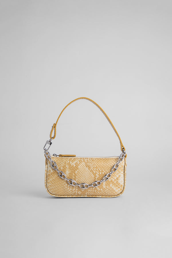 Mini Rachel Blonde Snake Print Leather
