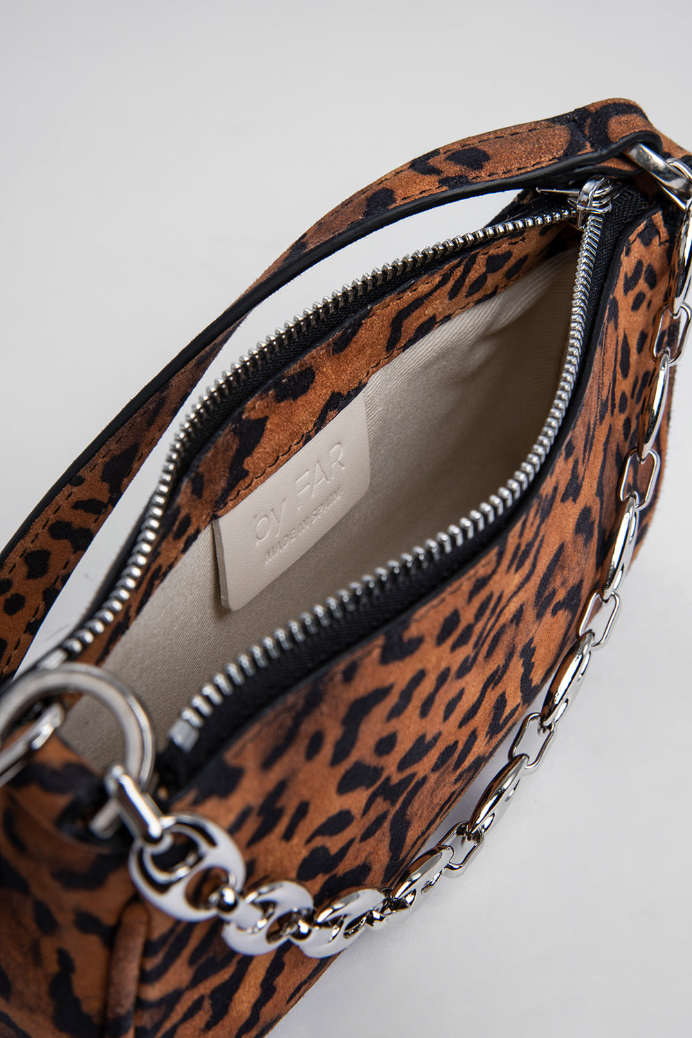 Mini Rachel Leopard Print Suede Leather