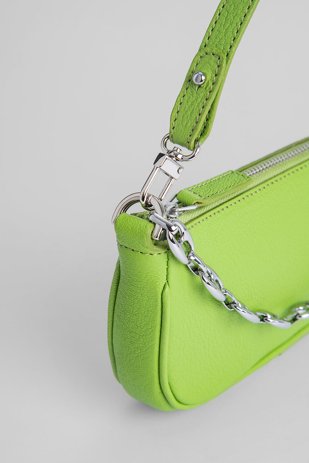 Mini Rachel Pistachio Grained Leather