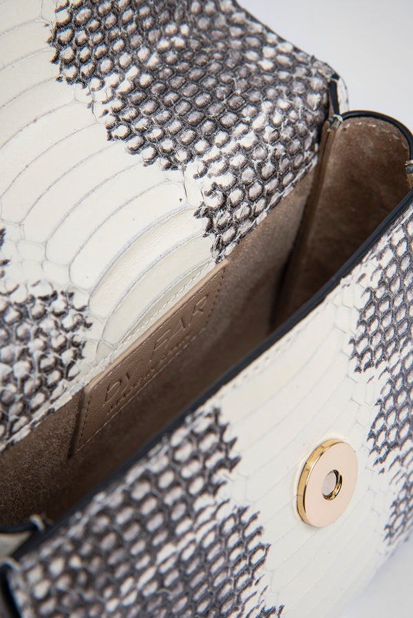 Mini Graphic Snake Print Leather