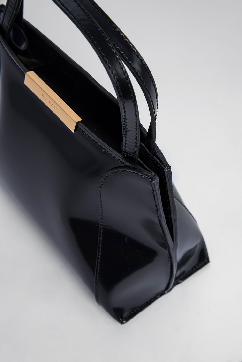 Charlotte Black Semi Patent Leather