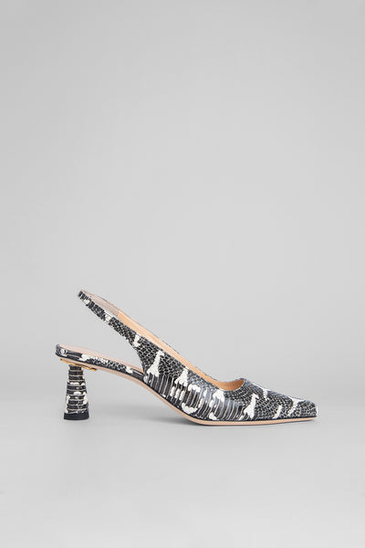 Diana Graphic Snake Print Leather