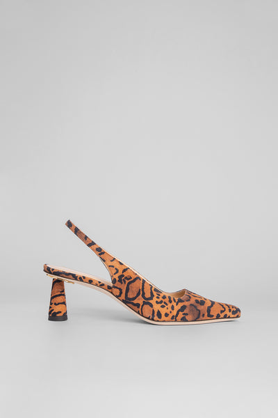 Diana Leopard Print Suede Leather