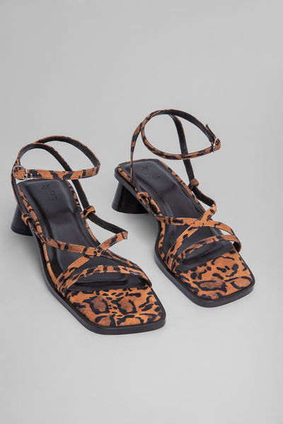 Yumi Leopard Print Suede Leather