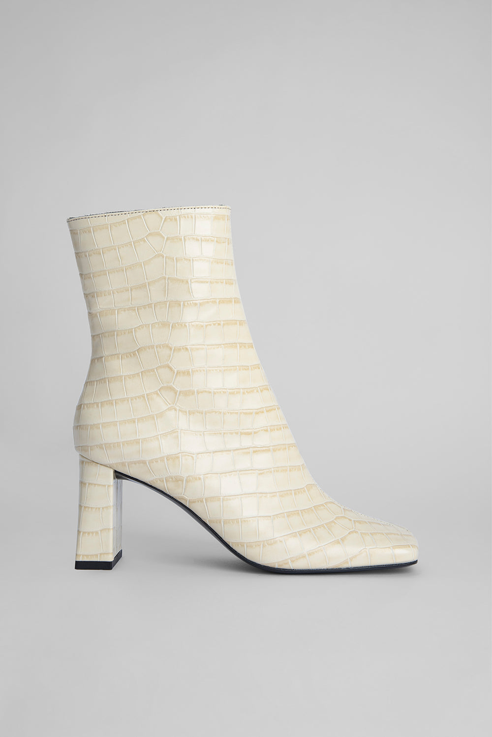 Celine Cream Croco Embossed Leather